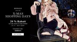 Buffalo: X-Mas Shopping Days mit 20 Prozent Rabatt auf ALLES (Auch Sale Kategorie)