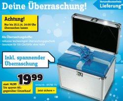 Conrad.de: Alu Überraschungskoffer wieder zu haben 20,-€ inc. Versand (Warenwert 79,-€)