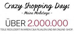 Crazy Shopping Days bei C&A + 15€ Gutscheincode (75€ MBW)