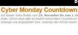 Cyber Monday Countdown @ Amazon – jeden Tag ein Schnäppchen z.B. Logitech Harmony Touch Fernbedienung für 87,87 € (114,38 € Idealo)