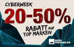 Cyberweek @Bergfreunde.de z.B. heute 25% Rabatt auf Topmarken