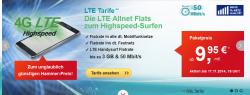 D- Netz helloMobil Allnet Flatrate LTE S, M oder L plus ab 9,95 € mtl.