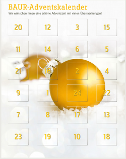 Der Baur Online Shop Adventskalender