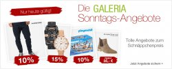 Die neuen Galeria Kaufhof Sonntagsangebote- bis zu 62 Prozent Rabatt