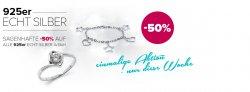 Echt Silberschmuck mit 50% Rabatt + 5€ Gutschein @Silvity