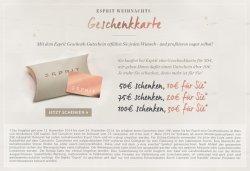 Einen 100€ Esprit Gutschein kaufen + 30€ Gutschein gratis dazu bekommen @Esprit