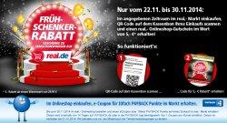 Frühschenker Rabatt: 5€ Gustchein ab ein Warenwert von 29,95€ erhalten + Aktuelle Rabatte  @Real