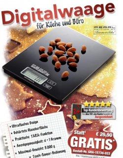 Gratis :digitale Küchenwage zur Bestellung dazu oder einzeln mit Versandkosten