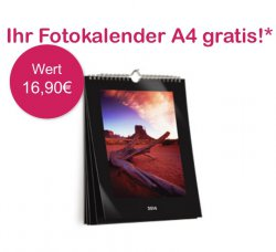 Gratis DIN A4 Fotokalender (zzg. Versand) im Wert von 16,90€ für Neukunden @photobox.de