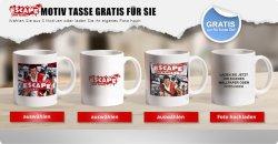 Gratis ESCAPE Tasse mit Motiv oder euer privates Foto für nur Versandkosten 4,95€ @Myprinting