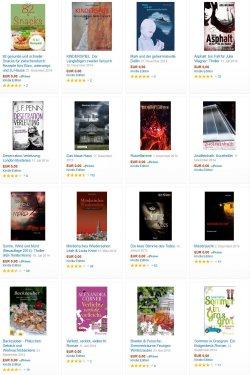 Heute 16 neue gratis-eBooks. zB der 4,6 Sterne Thriller ASPHALT + 82 Büro-Rezepte