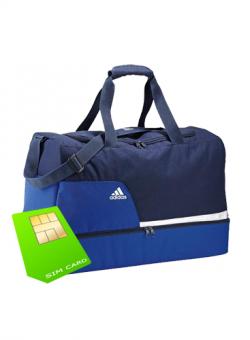 Im o2 Netz: Telco 8 ohne Laufzeit mit gratis Adidas Sporttasche für Einmalig 9,95 € @ Mobildiscounter