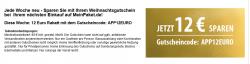 Jede Woche ein neues Angebot bei MeinPaket :12 € Gutschein bei 99 €MBW für  Bestands- und Neukunden