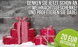 Jetzt zur Vorweihnachtszeit: 20 EUR-Gutschein ab 40€ MBW von @DELINERO!