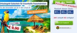 Kontingent erweitert: 100,-€ abindenurlaub Gutschein für 9,90€