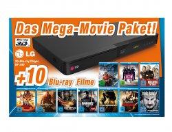 LG Blu-ray PlayerBP 440 + 10 Blu Ray Filme (FSK: 16) für 99€ [Preisvergleich 137,34] @Expert