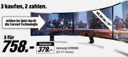 MediaMarkt GamerDeal: 3x 27 SAMSUNG Courved Monitore für 758€ (Idealo: ab 1113€)
