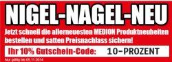 Medion: 10% Gutschein 03.11. bis 05.11.14 + Gratisversand für Artikel bis 100€