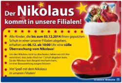 Nikolaus Überraschung für Kinder im Dänischen Bettenlager am 06.12.2014