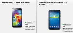 o2 Duo Vertrag: Samsung Galaxy S5 für 19€ mtl. mit Samsung Galaxy Tab 3 7.0 für 4,99€ mtl.@Handyflash