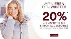 Orsay: 20 Prozent Rabtt auf Jacken und Stick- Accessoires mit Gutscheincode
