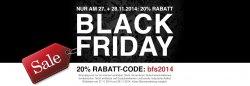 parfuemerie.de: Black Friday Sale 20 Prozent Rabatt auf alle Artikel ohne Mindestbestellwert