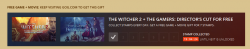 PC Spiel The Witcher 2 + Film The Gamers: Director's Cut kostenlos @gog.com