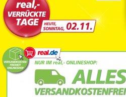 @real.de: Verrückte Tage : Heute bis 39,95€ Versandkosten sparen, auch Sperrgut !