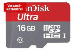 Mediamarkt.de: Sandisk Ultra microSDHC 16GB für 9€ [Idealo 14,69€] oder die 32GB oder 64GB Variante ebenfalls unter Idealo