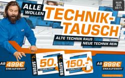 Saturn-Technik-Tausch-Aktion ab 499€/999€ kaufen und 50€/150€ Gutschein erhalten