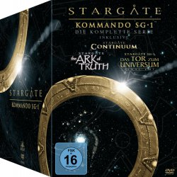 Stargate Kommando SG-1 – Die komplette Serie (inkl. Continuum, The Ark of Truth & Bonus-DVD) 61 DVDs für 52,97 € (83,99 € Idealo) @Amazon