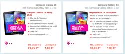 Telekom Netz:Samsung Galaxy S5 16GB inkl.Samsung Galaxy Tab3 7.0 lite 8GB Wifi + 100€ Cashback ab 29,95€ mtl. @ Preisbörse24