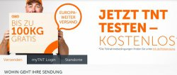 TNT kostenlos ein Paket bis 100kg innerhalb von Europa versenden