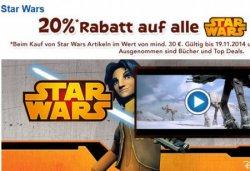 ToysRUs : 20% auf alle Star Wars Produkte ab 30€ Bestellwert bis 19.11.14