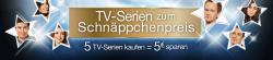 TV-Serien zum Schnäppchenpreis – 5 TV-Serien kaufen = 5 € Rabatt @ Amazon
