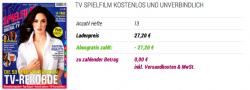 TV Spielfilm kostenlos und unverbindlich testen. (13 Zeitschriften) @abogratis.de, selbstkündigend