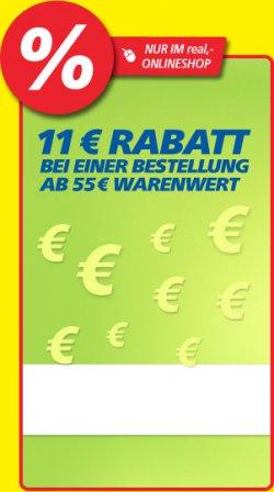 Verrückte Tage – 11€ Rabatt ab 55€ MBW @Real.de