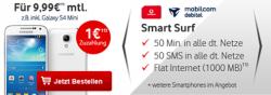 Vodafone Smart Surf (1GB Datenflat, je 50 Frei Minuten und SMS)  für 9,99€ mtl. @Modeo