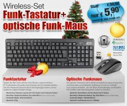 Wireless Set Funktastatur & optische Funk – Maus für 5,90 €uro @ pearl.de, zzgl. VSK
