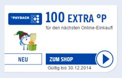 100 EXTRA PAYBACK Punkte (= 1 €) für den nächsten Online-Einkauf