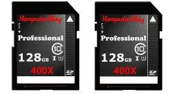 2 Stück Komputerbay 128GB SDXC Class 10  Speicherkarte für 78 € (153,94 € Idealo) @Amazon