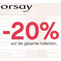 20% und 15% Rabatt bei Orsay