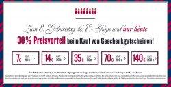 30% Rabatt auf Tom Tailor Geschenkkarten z.b. 200€ für 140€ @TomTailer