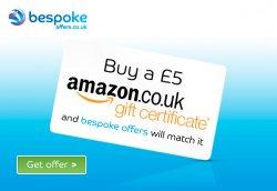 £5 amazon.co.uk Gutschein kaufen und £5 von bespokeoffers.co.uk dazu bekommen