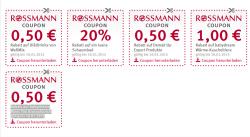 [Lokal] 5 neue Rossmann Coupons zum Ausdrucken gültig bis 18.01.2015