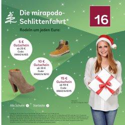 5€, 10€ und 15€ Gutschein + 30€ Rabatt Sale @Mirapodo