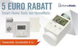 5€ Rabatt-Gutschein auf alle Home-Matic Produkte @Cyberport