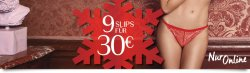 9 Slips für 30 € ( zzgl. Versand ) Aktion @ Hunkemöller