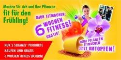 Bis 31.12.2014 zwei SERAMIS-Produkte kaufen (ab 2,50 €/Stück) und gratis 6 Wochen Fitnesstudio Gutschein bekommen (deutschland.wirdfit.de; Wert 29,90 €)