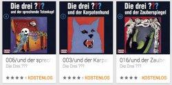 Die drei ???: 3 ausgewählte Hörspiele kostenlos @GooglePlay Store